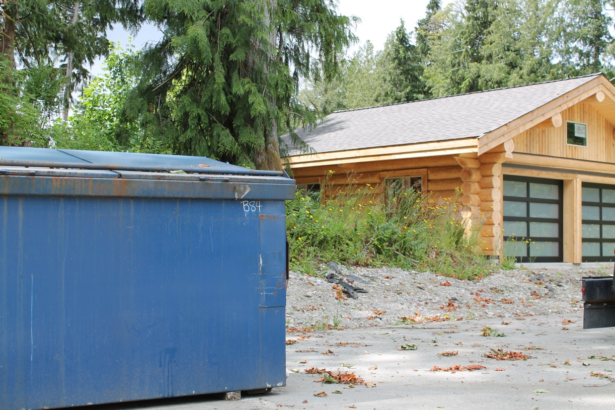 Waste management container in Port Alberni